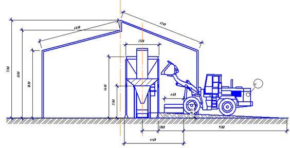 Проект и оборудование фасовки сыпучей продукции, удобрений. сапропеля в открытые мешки