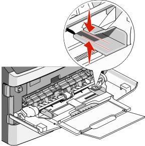 Использование многоцелевого устройства подачи или устройства ручной подачи.