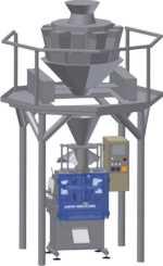 Автомат для весового дозирования продуктов с высокой точностью. афу макиз у-03 серия 055 с мультиголовочным весовым дозатором