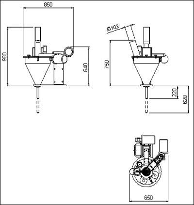 Объемные шнековые дозаторы gdc60b