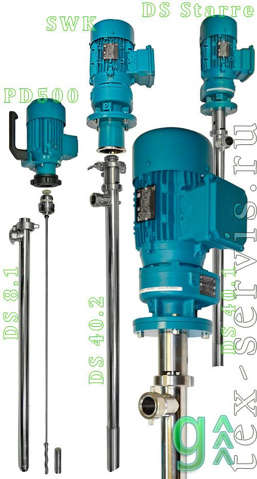 Шнековые насосы вертикальные для вязких жидкостей - gruen pumpen